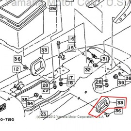 poignée latérale WV 1100 1997