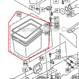 bac rangement arrière WV 1100 1997